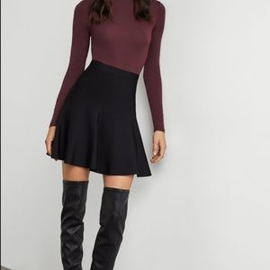 BCBG MaxAzria Black A-Line Skirt